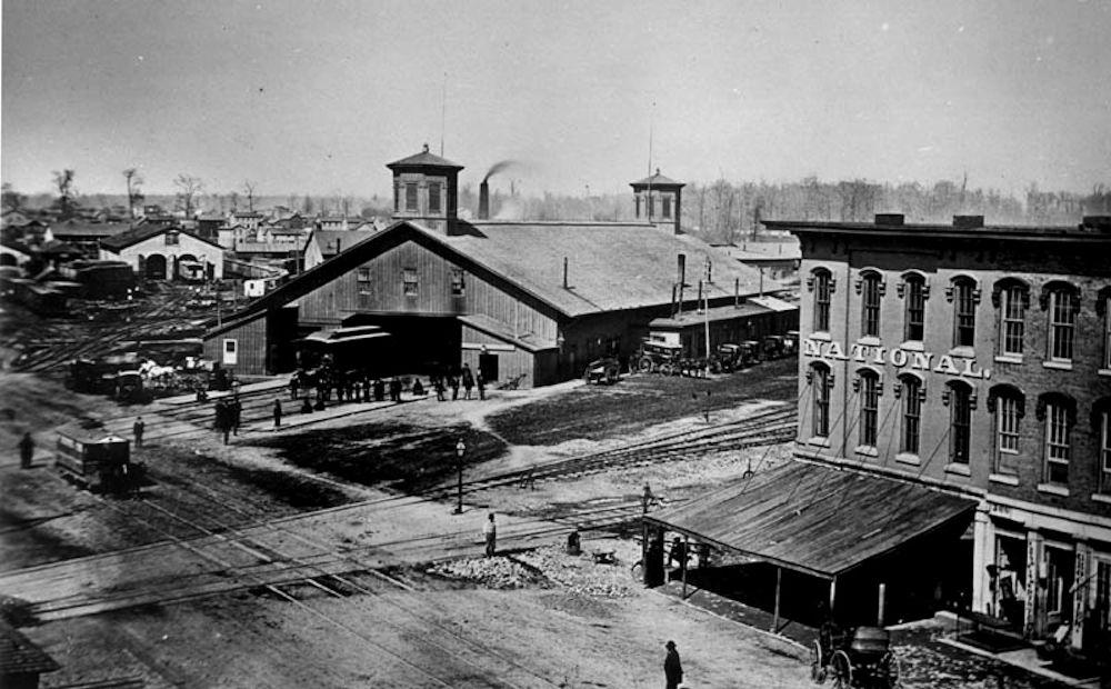 Old Railroad Cars Columbus Ohio